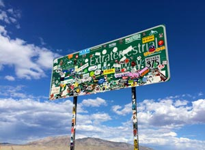 Extraterrestrial Highway Sign - Nevada