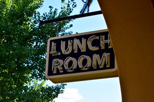 Lunch Room Sign - Kelso Depot
